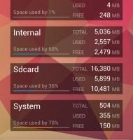 مشاهده فضای آزاد و اشغال شده ی گوشی های اندرویدی