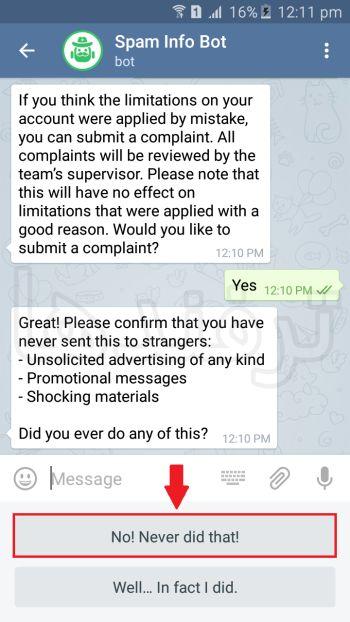 رفع ریپورت تلگرام آموزش