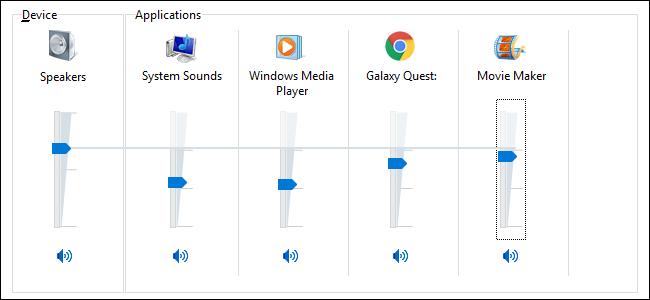 چگونه میزان صدا را برای هر برنامه ی دلخواه تنظیم کنیم؟