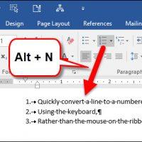 چگونه در Word با استفاده از صفحه کلید یک لیست عددی بسازیم؟
