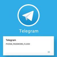 آموزش رفع ارور Phone Password Flood در تلگرام