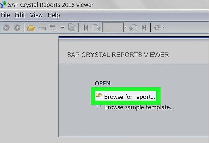 Browse for report نحوه باز کردن فایل Rpt
