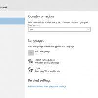 نحوه ی تغییر زبان در ویندوز ۱۰ از طریق Settings