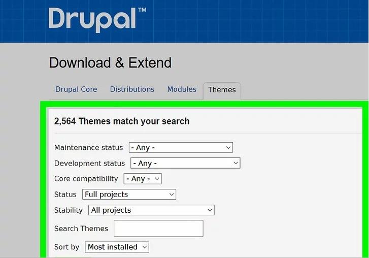 نحوه ی تغییر تم در Drupal