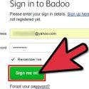 نحوه ی ورود به Badoo با استفاده از آدرس ایمیل و رمز عبور آن