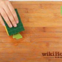 پاک کردن برچسب از روی چوب
