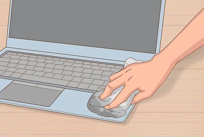 نحوه ی پاک کردن لکه ی چسب استیکر از روی لپ تاپ