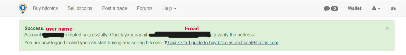 درخواست تایید ایمیل localbitcoins