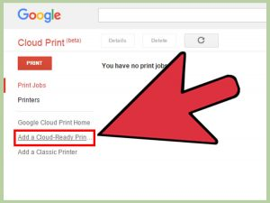 اتصال به Google Cloud Print