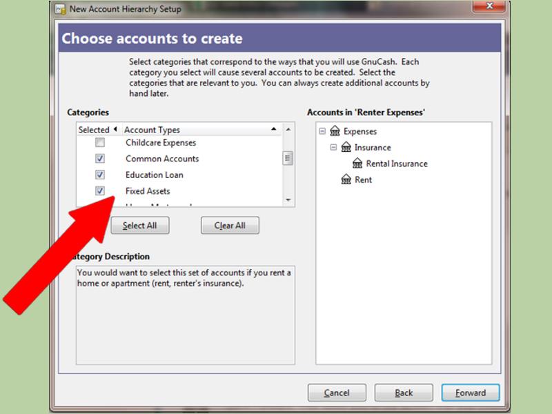 انتخاب نوع حساب