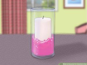 تزئین شمع در شیشه