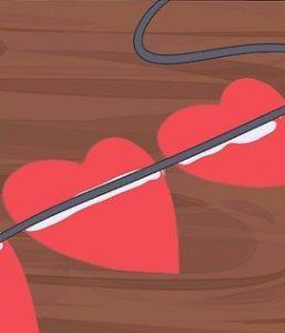 چسباندن نخ به قلب
