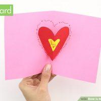 طرز تهیه ی کارت هدیه برای ولنتاین (( قلب برجسته ))