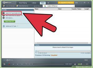 گزینه ی Select CD Type