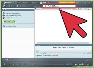 گزینه Audio CD Burner