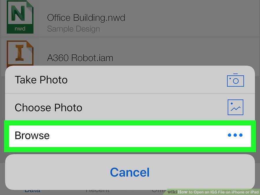 گزینه Browse