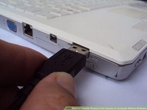 اتصال کابل به کامپیوتر
