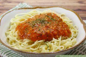 اسپاگتی با سس