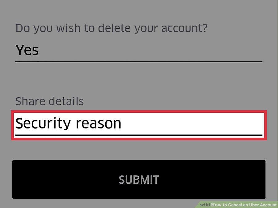 دلیل حذف حساب