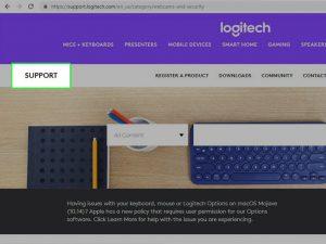 سایت پشتیبانی Logitech