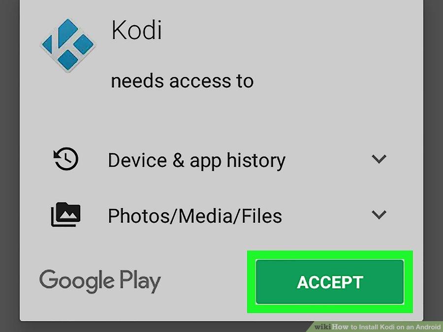 گزینه ی ACCEPT