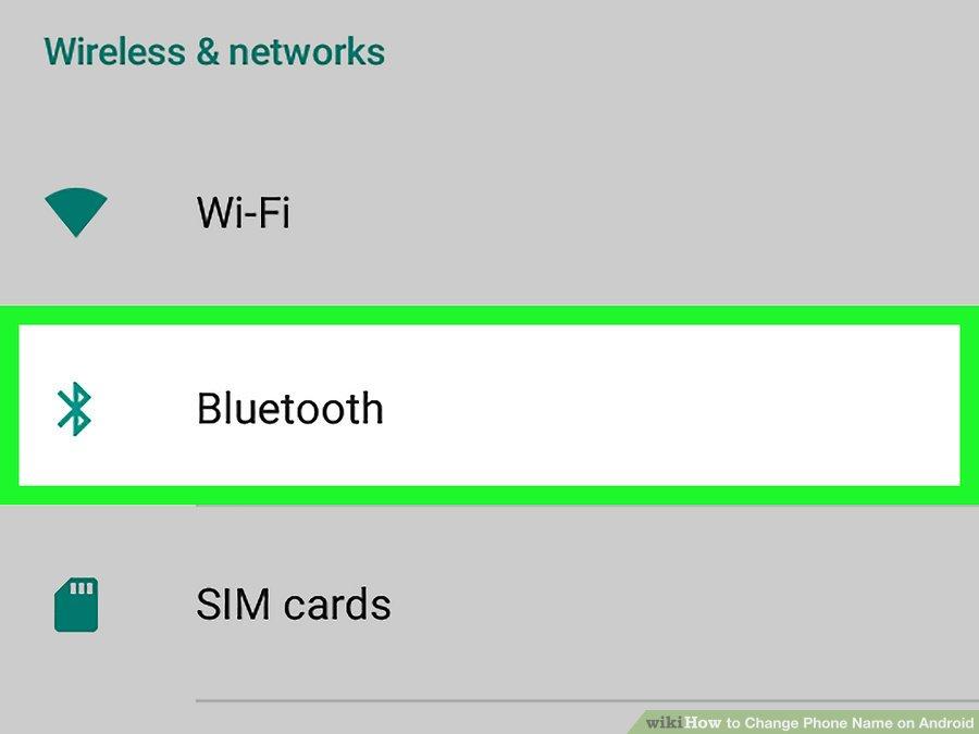 گزینه ی Bluetooth