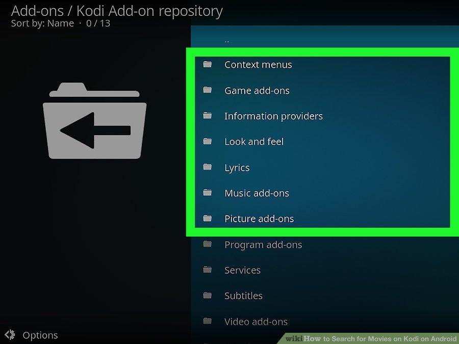 گزینه ی Kodi Add-on repository