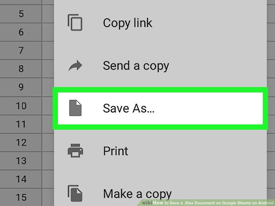 گزینه ی Save As