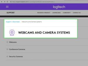 گزینه ی Webcams
