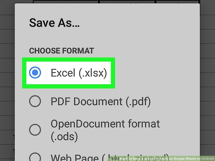 گزینه Excel