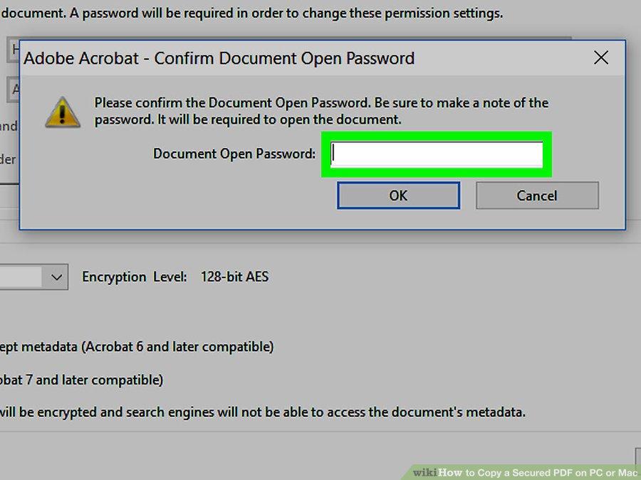 رمز عبور PDF
