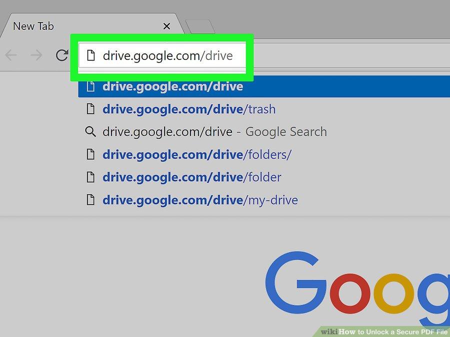 صفحه Google Drive