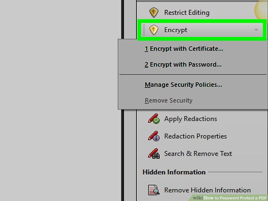 گزینه ی Encrypt