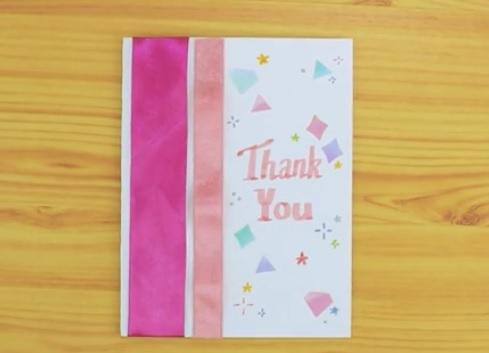 کارت تشکر با استفاده از ربان