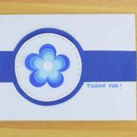 طرز تهیه ی کارت تشکر با استفاده از گل های کاغذی