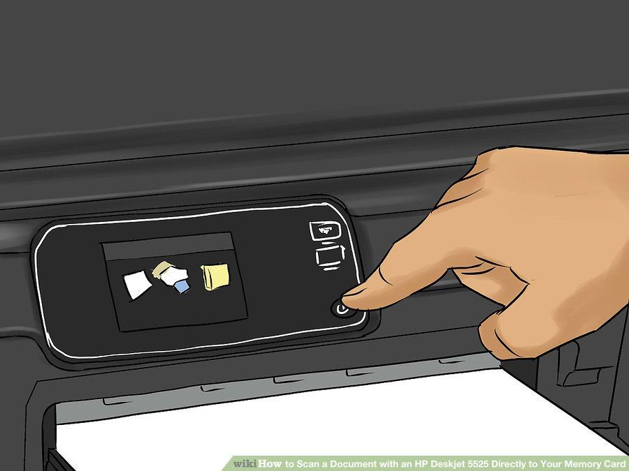 چگونه از یک سند با HP Deskjet 5525 اسکن بگیریم و آن را مستقیم به Memory Card انتقال دهیم ؟ ( مرحله اول : اسکن سند )