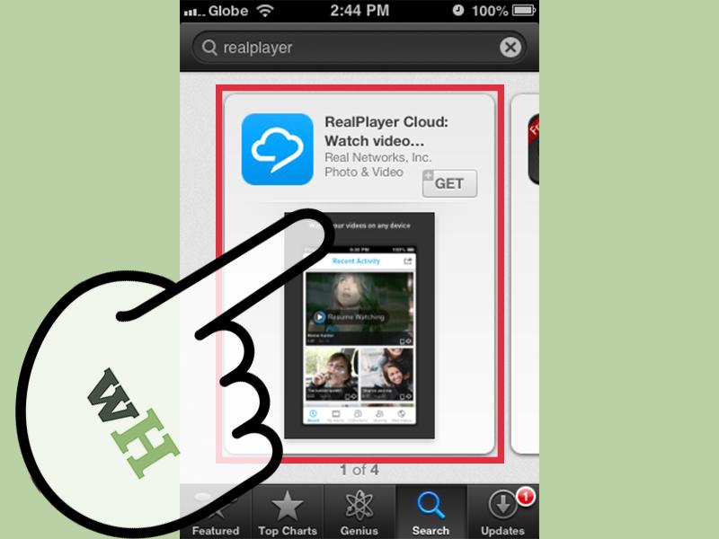 انتخاب RealPlayer Cloud