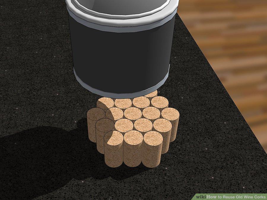زیر لیوانی با استفاده از چوب پنبه