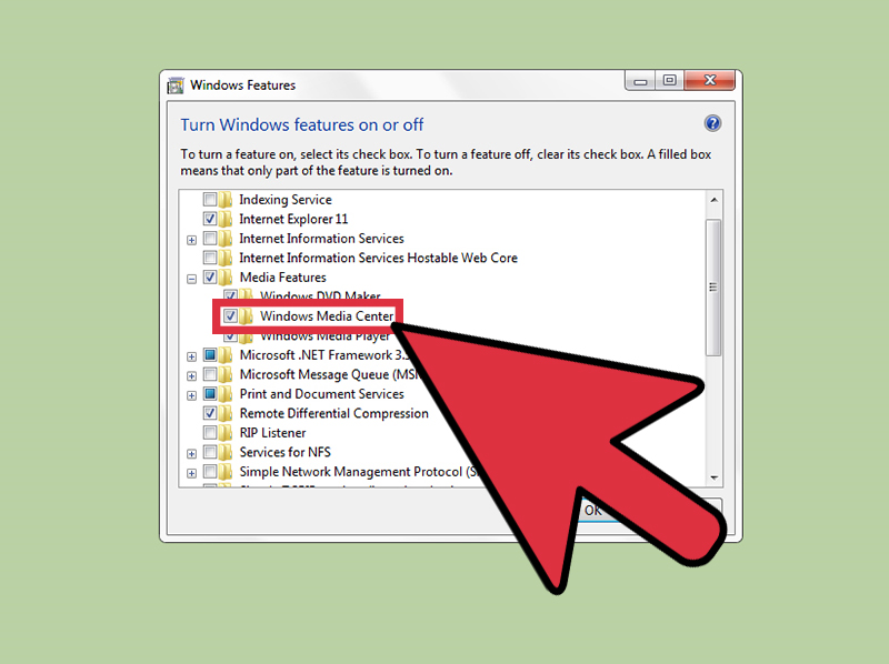 غیرفعال کردن Windows Media Center