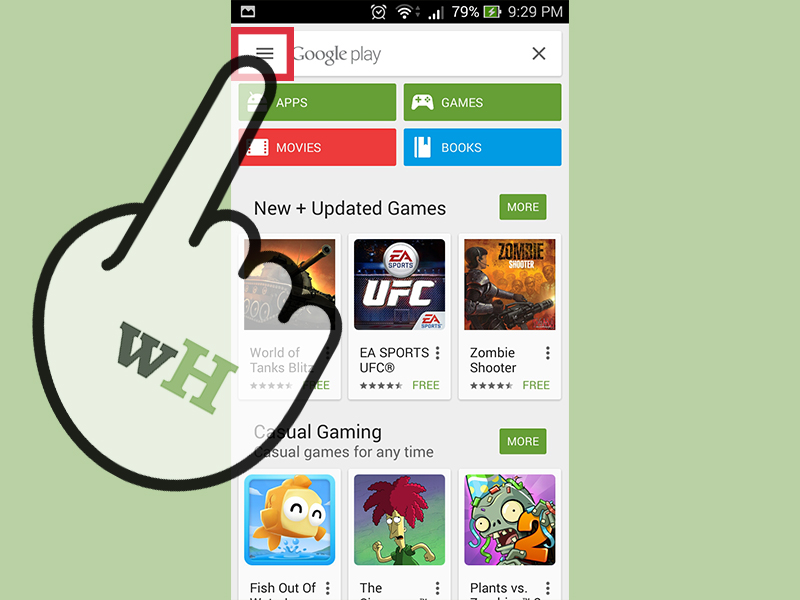 منوی Play Store