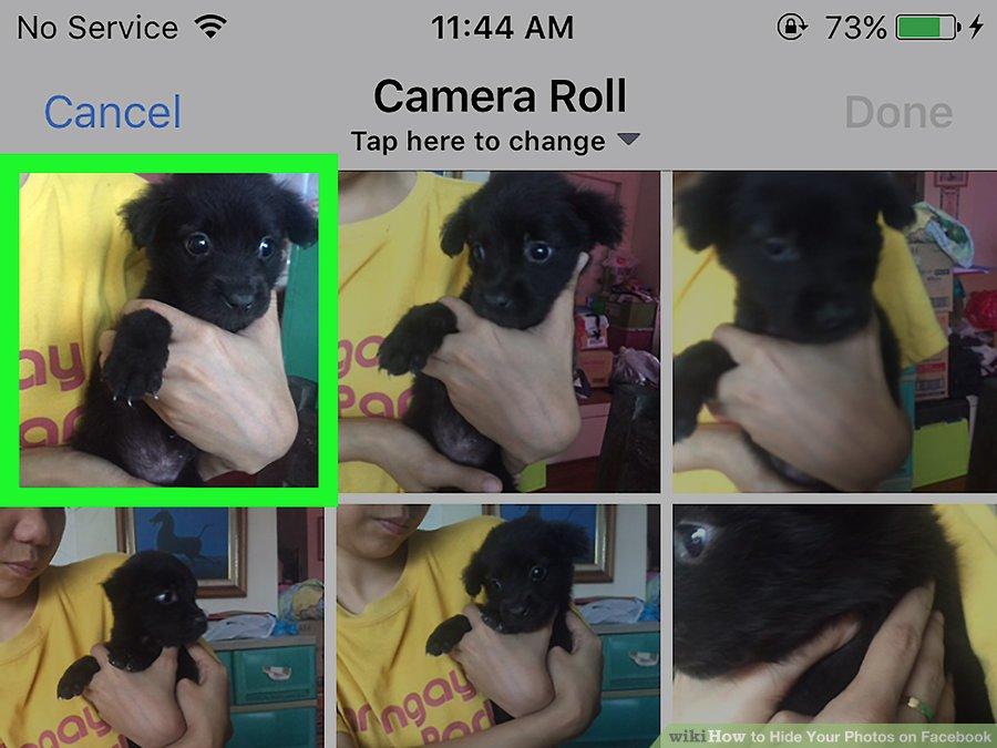 نحوه مخفی کردن عکس های آلبوم در فیسبوک ( از طریق کامپیوتر )