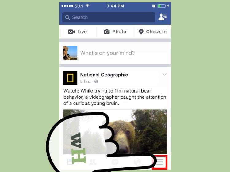 نحوه مخفی کردن عکس های آلبوم در فیسبوک ( از طریق موبایل )