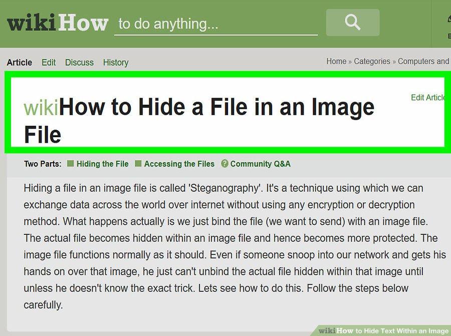 مخفی کردن متن در یک تصویر