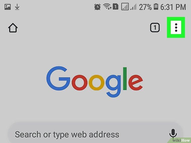 دکمه منوی Chrome ap