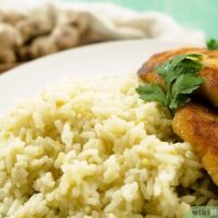 طرز تهیه برنج زنجبیلی همراه با مرغ