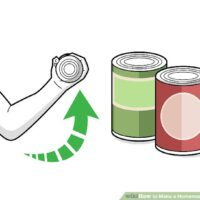 چگونه با ظرف کنسرو یک وزنه خانگی درست کنیم؟