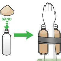 چگونه وزنه سنگین برای حرکات دست درست کنیم؟