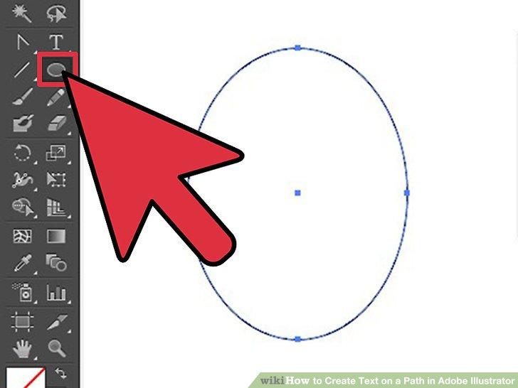 نحوه ایجاد متن جهت دار در برنامه Adobe Illustrator (متن روی شکل)