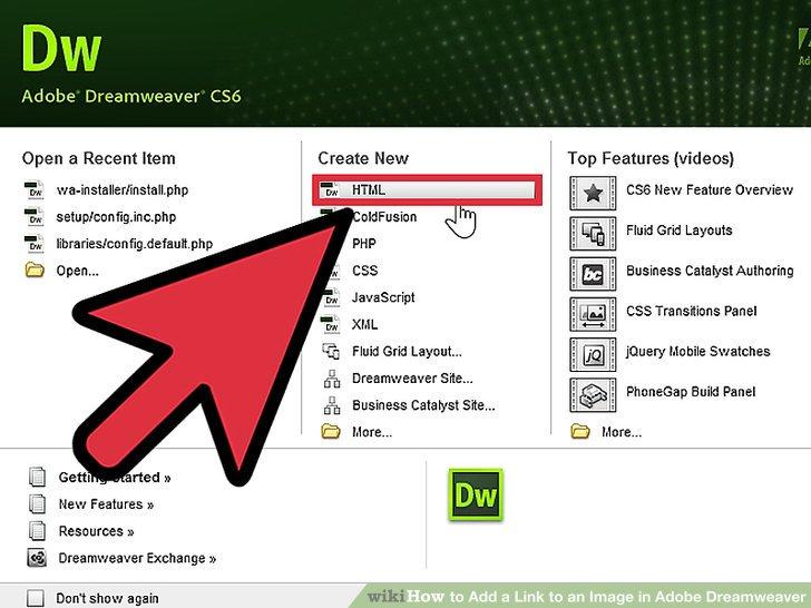 نحوه افزودن لینک به تصویر در Adobe Dreamweaver